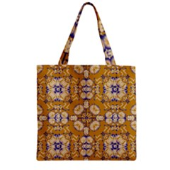 Abstract Elegant Background Card Zipper Grocery Tote Bag