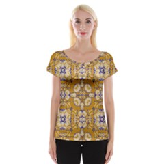 Abstract Elegant Background Card Women s Cap Sleeve Top