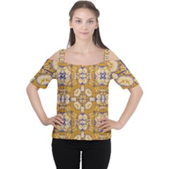 Abstract Elegant Background Card Women s Cutout Shoulder Tee