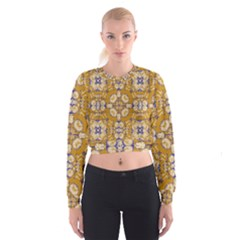 Abstract Elegant Background Card Women s Cropped Sweatshirt