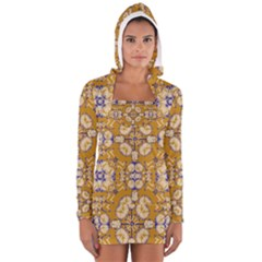 Abstract Elegant Background Card Women s Long Sleeve Hooded T Shirt