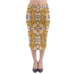 Abstract Elegant Background Card Midi Pencil Skirt