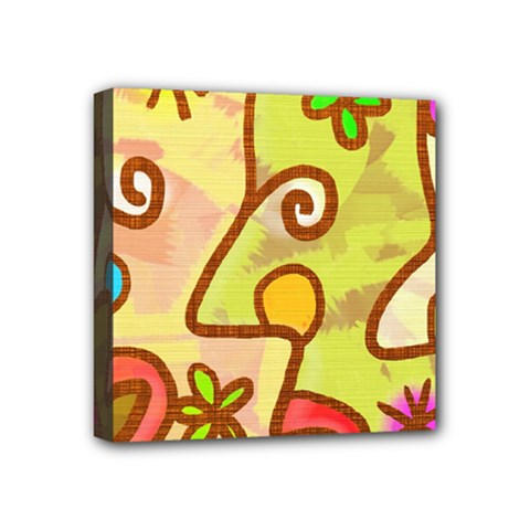 Abstract Faces Abstract Spiral Mini Canvas 4  X 4