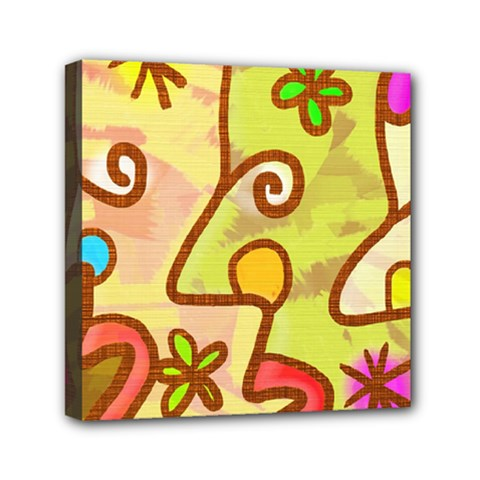 Abstract Faces Abstract Spiral Mini Canvas 6  X 6
