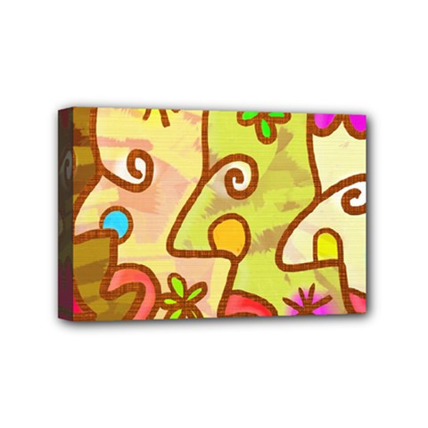 Abstract Faces Abstract Spiral Mini Canvas 6  X 4