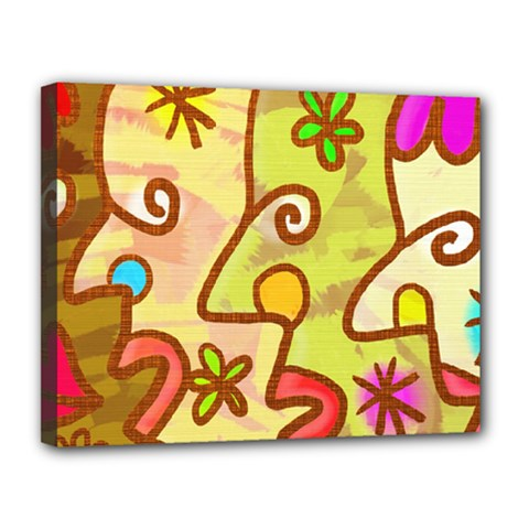 Abstract Faces Abstract Spiral Canvas 14  X 11