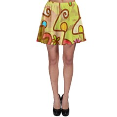 Abstract Faces Abstract Spiral Skater Skirt