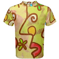 Abstract Faces Abstract Spiral Men s Cotton Tee