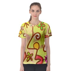 Abstract Faces Abstract Spiral Women s Sport Mesh Tee