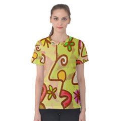 Abstract Faces Abstract Spiral Women s Cotton Tee