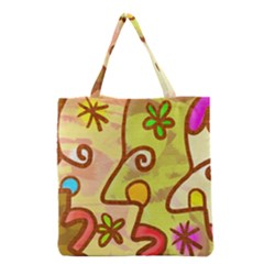 Abstract Faces Abstract Spiral Grocery Tote Bag