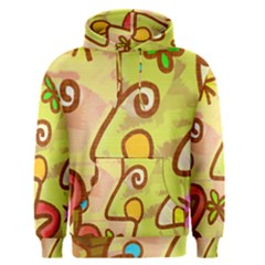 Abstract Faces Abstract Spiral Men s Pullover Hoodie