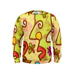 Abstract Faces Abstract Spiral Kids  Sweatshirt