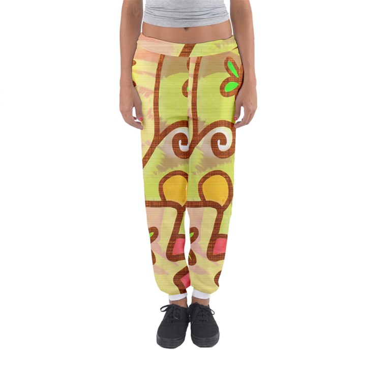 Abstract Faces Abstract Spiral Women s Jogger Sweatpants