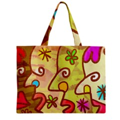 Abstract Faces Abstract Spiral Zipper Mini Tote Bag