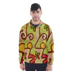 Abstract Faces Abstract Spiral Wind Breaker (men)