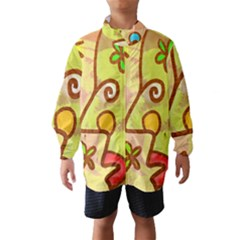 Abstract Faces Abstract Spiral Wind Breaker (kids)