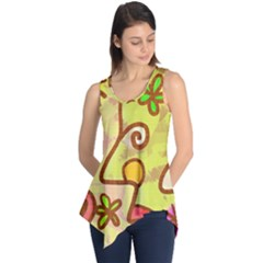 Abstract Faces Abstract Spiral Sleeveless Tunic
