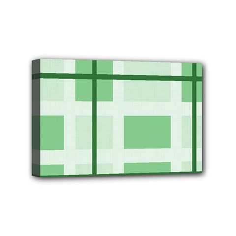 Abstract Green Squares Background Mini Canvas 6  X 4