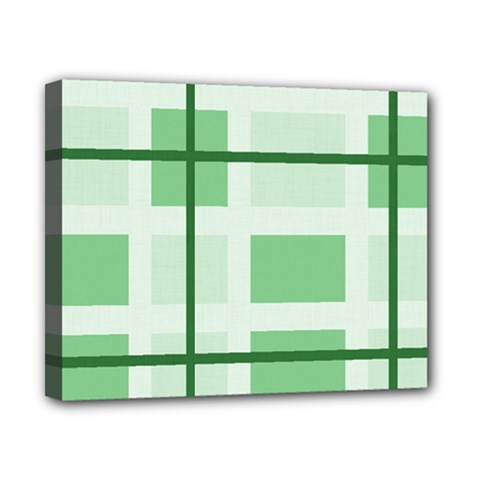 Abstract Green Squares Background Canvas 10  X 8