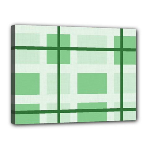 Abstract Green Squares Background Canvas 16  X 12