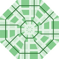 Abstract Green Squares Background Straight Umbrellas
