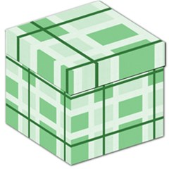 Abstract Green Squares Background Storage Stool 12