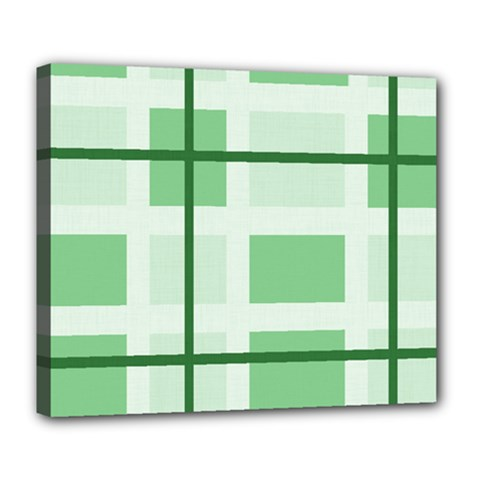 Abstract Green Squares Background Deluxe Canvas 24  X 20