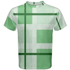Abstract Green Squares Background Men s Cotton Tee