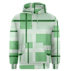 Abstract Green Squares Background Men s Pullover Hoodie