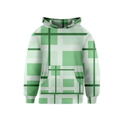 Abstract Green Squares Background Kids  Pullover Hoodie