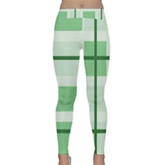 Abstract Green Squares Background Classic Yoga Leggings