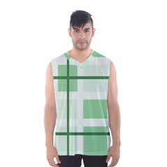 Abstract Green Squares Background Men s Basketball Tank Top