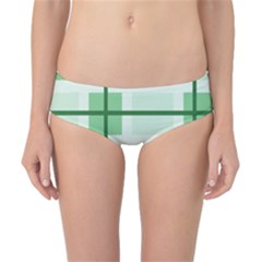 Abstract Green Squares Background Classic Bikini Bottoms
