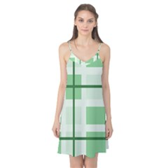 Abstract Green Squares Background Camis Nightgown