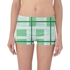 Abstract Green Squares Background Reversible Bikini Bottoms