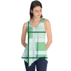 Abstract Green Squares Background Sleeveless Tunic