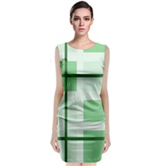 Abstract Green Squares Background Classic Sleeveless Midi Dress