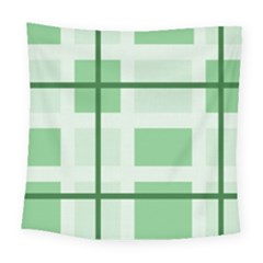 Abstract Green Squares Background Square Tapestry (large)