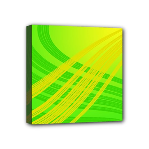 Abstract Green Yellow Background Mini Canvas 4  X 4