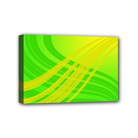 Abstract Green Yellow Background Mini Canvas 6  X 4