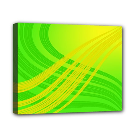 Abstract Green Yellow Background Canvas 10  X 8