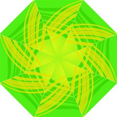 Abstract Green Yellow Background Folding Umbrellas