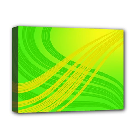 Abstract Green Yellow Background Deluxe Canvas 16  X 12