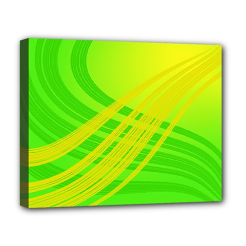 Abstract Green Yellow Background Deluxe Canvas 20  X 16