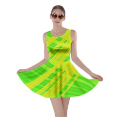 Abstract Green Yellow Background Skater Dress