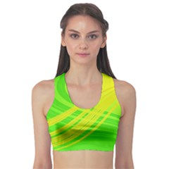 Abstract Green Yellow Background Sports Bra