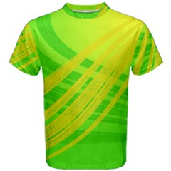 Abstract Green Yellow Background Men s Cotton Tee