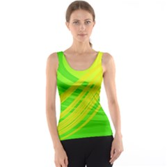 Abstract Green Yellow Background Tank Top