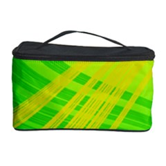 Abstract Green Yellow Background Cosmetic Storage Case